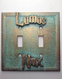 amazon com lumos nox harry potter double light switch cover