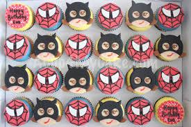 batgirl u0026 spiderman cupcakes acup4mycake