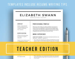 resume templates for educators resume template modern cv template instant word