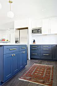 Navy Gold  White Kitchen Reveal The Vintage Rug Shop The - Navy kitchen cabinets