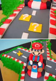butter hearts sugar mario kart birthday cake