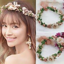 floral headdress party crown wedding headband flower hairband floral