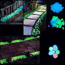 glow in the pebbles 20 100pcs luminous stones glow in the pebbles garden fish
