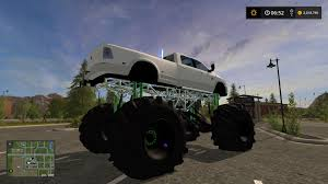 monster trucks racing in mud dodge mud lifted v1 0 truck farming simulator 2017 mod ls 2017