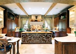 awesome kitchen peninsula bar with brown cabinet and countertop