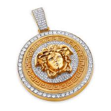 diamond style necklace images Unique versace style diamond pendant 6ct 10k gold medusa head jpg