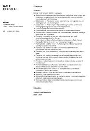 ux writer resume sample velvet jobs