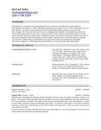 Sample Senior Software Engineer Resume Sample Resume For C Net Developer Free Resume Example And