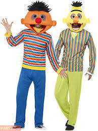 Bert Ernie Halloween Costume Adults Bert Ernie Costume Mens Sesame Street Fancy Dress Licensed