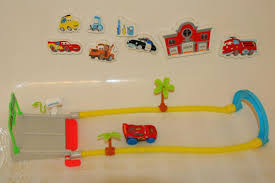Bathtub Race Track Disney Cars Hydro Wheels Lightning Mcqueen With New 2013 World