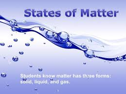 states of matter students know matter has three forms solid