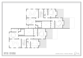 piano floor plan pianta arredata primo piano villa nuova seven islands resort
