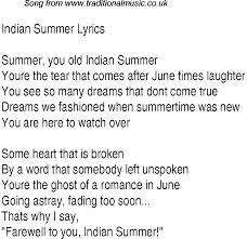 1940s top songs lyrics for indian summer glen miller