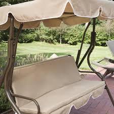 Porch Swing Gliders Abba Patio Outdoor Veranda 3 Triple Seater Hammock Canopy Swing