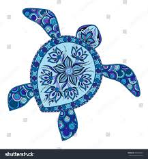 decorative graphic turtle style tribal stock vector