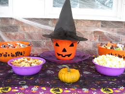 easy halloween party table monster party mix recipe graceful
