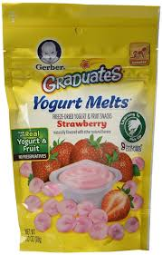 graduates snacks gerber snack foods gerber graduates yogurt melts variety pack