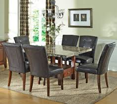 Black Leather Chairs And Dining Table Dining Room Upholstered Dining Chairs With Saloom Furniture And