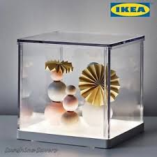 led light box ikea ikea synas led light display box clear model showcase show case bnib