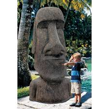 design toscano easter island ahu akivi moai monolith garden statue
