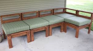 Outdoor Wooden Chairs Plans More Like Home 2x4 Outdoor Sectional