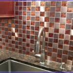 Copper Kitchen Penny Backsplash - Copper tiles backsplash
