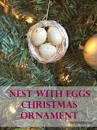 nest with eggs ornament