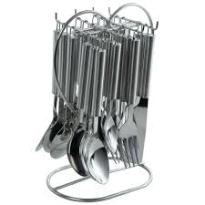 Cutlery Set by Kkd 24 Pc Stainless Steel Cutlery Set With Holder Cutlery Sets