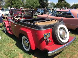 1948 willys jeepster file 1950 willys jeepster 6 cylinder in red and black with open
