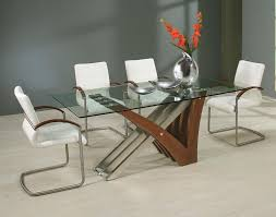 Glass Table Legs Awesome Rectangular Glass Top Dining Table And Wooden Table Legs