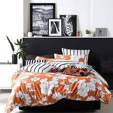 linen house dawn orange quilt cover set manchester madness