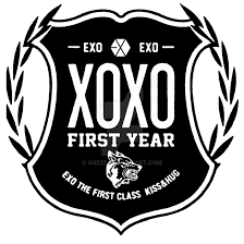 wallpaper exo wolf 88 xoxo first year logo black by sqz27 on deviantart