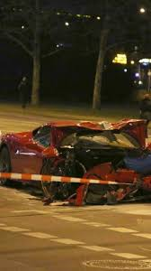 smart car crash ferrari 458 speciale and smart fortwo involved in nasty berlin