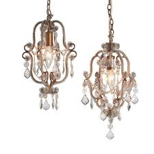 Mini Shade Chandelier Mini Crystal Chandelier Antique Gold 1 Light 8quot Lamp Shade Pro