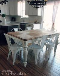 farmhouse table with metal chairs incredible white metal chairs dining room decor by liz marie picture