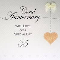 35 wedding anniversary 35th wedding anniversary coral