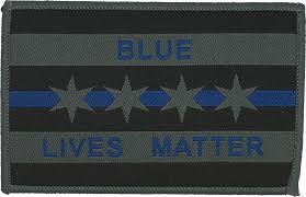 Chicaho Flag City Of Chicago Flag Patch Grey Blue Lives Matter Chicago Cop Shop