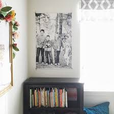 how to hang art prints without frames the easiest way to hang a big photo as seen in audrey s room