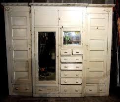 nice antique built in armoire unique closet front