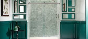 Kohler Frameless Sliding Shower Door Shower Bathroom Kohler Shower Stallsiberglassrameless Doors
