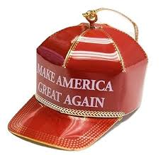 make america great again ornament on gets all the