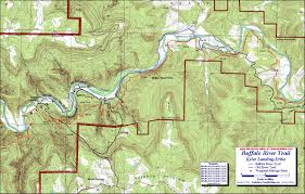 Buffalo Map Buffalo River Trail Western Section Free Detailed Topo Map