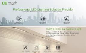 le better lighting experience le led under cabinet lighting warm white 900lm total of 12w 24w