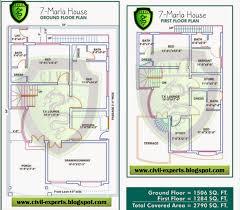 modern townhouse plans civil experts 7 marla house plans