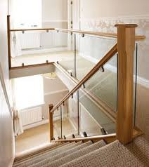Stair Banister Glass Glass Staircase Balustrade Kit Glass Stair Parts U0026 Oak Handrails