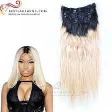 ombre clip in hair extensions 8pcs ombre clip in hair extension hair