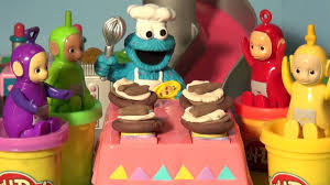 play doh teletubbies cookie monster chef