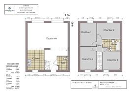 plan maison etage 3 chambres agréable plan maison etage 3 chambres gratuit 2 plan maison 80m2
