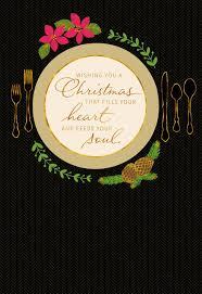 holiday place setting christmas card greeting cards hallmark