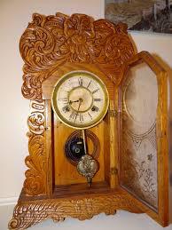 Forestville Mantel Clock Antique Mantel Clocks For Sale Antique Waterbury Mantle Oak